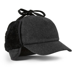 Rag & bone Shearling-Trimmed Wool-Blend Trapper Hat