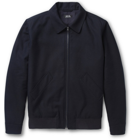 A.P.C. Cotton and Wool-Blend Bomber Jacket