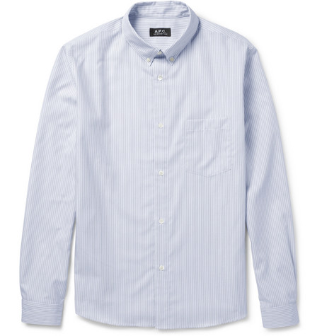 A.P.C. Striped Button-Down Cotton Oxford Shirt