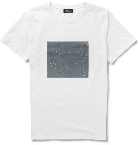 A.P.C. Starry Night-Print Cotton-Jersey T-Shirt