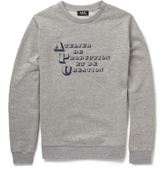 A.P.C. Printed Loopback Cotton Sweatshirt