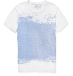 Maison Martin Margiela Flocked Cotton-Jersey T-Shirt
