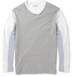 Maison Martin Margiela Panelled Cotton-Jersey T-Shirt