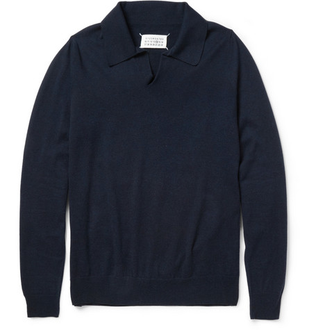 Maison Martin Margiela Wool and Cotton-Blend Polo Shirt