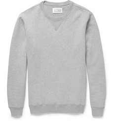 Maison Margiela Elbow Patch Loopback Cotton-Jersey Sweatshirt