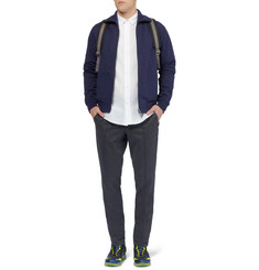 Maison Martin Margiela Elbow Patch Cotton-Jersey Cardigan