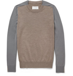 Maison Martin Margiela Contrast-Sleeve Wool Sweater