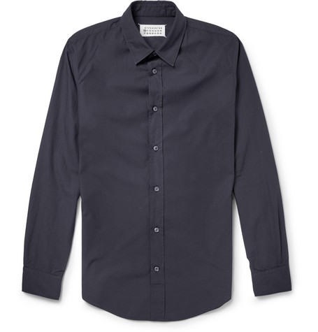 Maison Martin Margiela Slim-Fit Cotton-Poplin Shirt