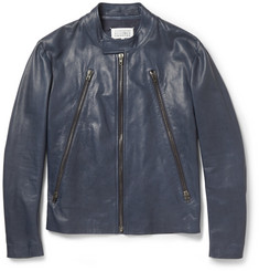 Maison Martin Margiela Zipped Leather Jacket