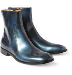 Maison Martin Margiela Metallic-Leather Ankle Boots