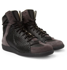 Maison Martin Margiela Leather and Suede High Top Sneakers