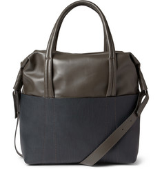 Maison Martin Margiela Full-Grain and Smooth Leather Tote Bag