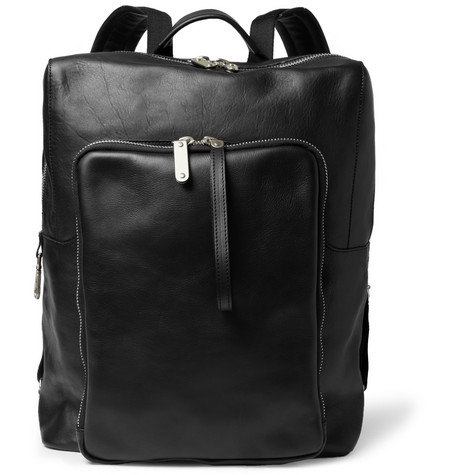 Maison Martin Margiela Leather Backpack with Detachable Pouch
