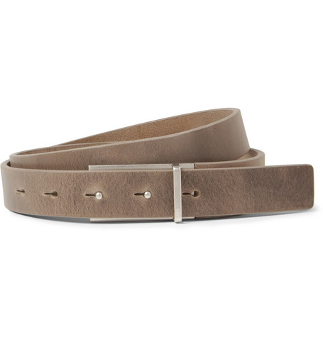 Maison Martin Margiela Brown 3cm Reversed-Buckle Leather Belt