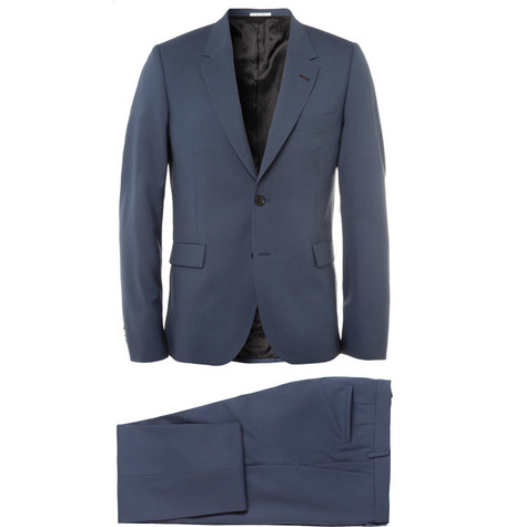 Paul Smith Blue Slim-Fit Wool Suit