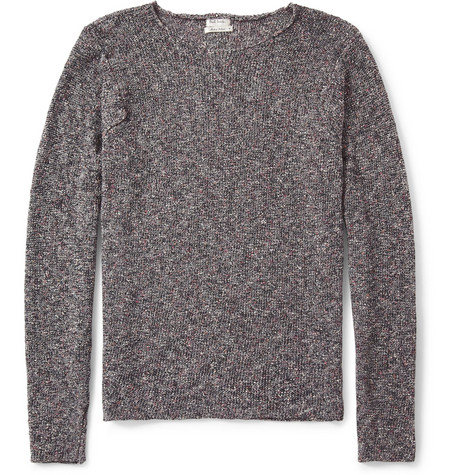 Paul Smith Flecked Knitted Crew Neck Sweater