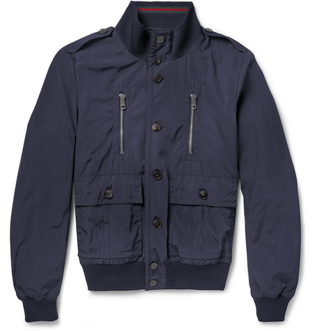 Gucci Lightly Padded Poplin Bomber Jacket
