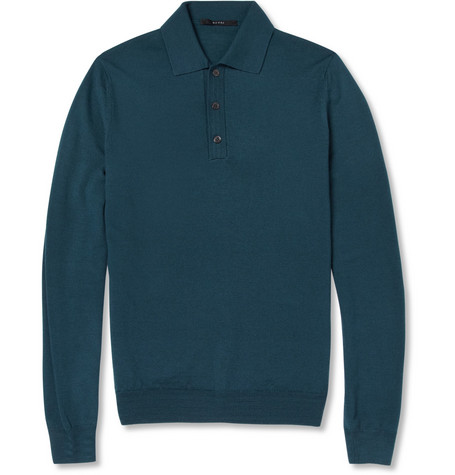 Gucci Knitted Wool Polo Shirt