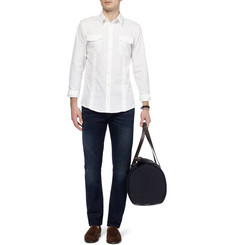 Gucci Epaulette Cotton-Poplin Shirt