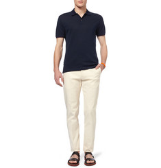 Gucci Cotton and Silk-Blend Pique Polo Shirt