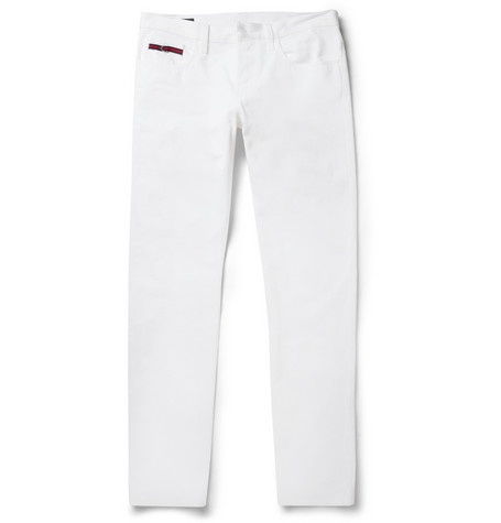 Gucci Slim-Fit Cotton-Drill Jeans