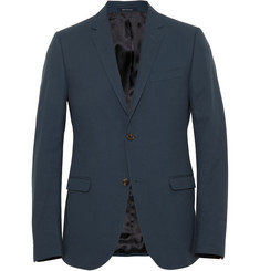 Gucci - Blue Slim-Fit Woven-Cotton Blazer