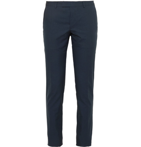 Gucci Petrol Cotton Suit Trousers