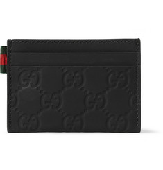 Gucci Embossed Coated Leather Cardholder