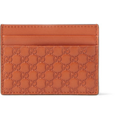 Gucci Embossed Leather Card Holder