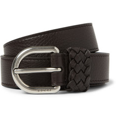 Gucci Brown 2.5cm Full-Grain Leather Belt