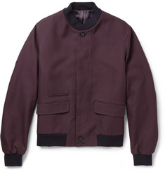 Alexander McQueen Patterned Woven-Cotton Bomber Jacket