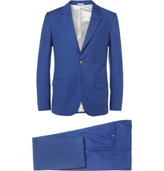 Alexander McQueen Blue Slim-Fit Wool and Mohair-Blend Suit