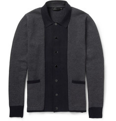 Alexander McQueen Woven Cotton and Cashmere-Blend Cardigan