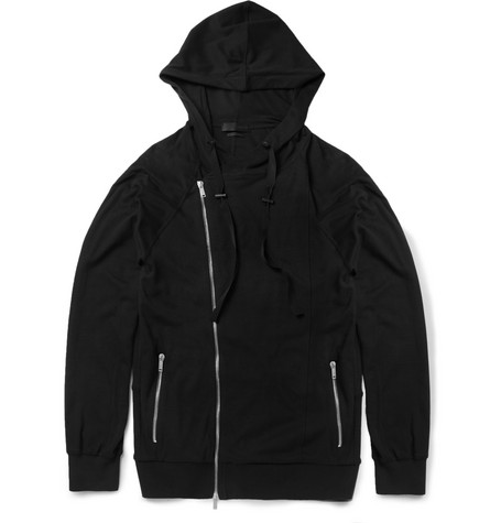 Alexander McQueen Zipped Cotton and Cashmere-Blend Jersey Hoodie