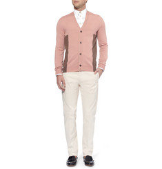 Alexander McQueen Fine-Knit Wool and Silk-Blend Cardigan