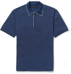 Alexander McQueen Contrast Collar Cotton-Pique Polo Shirt