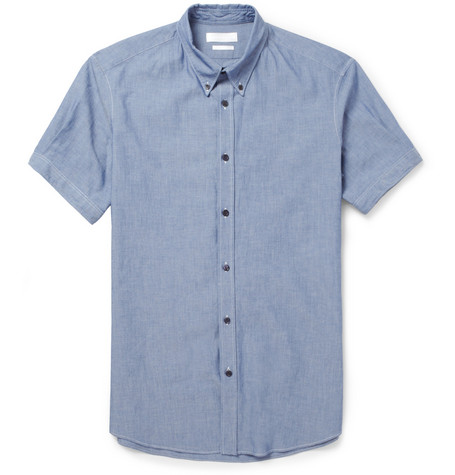 Alexander McQueen Slim-Fit Cotton-Chambray Shirt