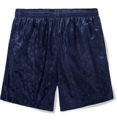 Alexander McQueen Mid-Length Skull-Patterned Swim Shorts