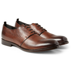 Alexander McQueen Burnished-Leather Derby Shoes
