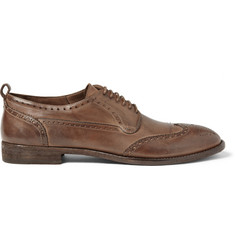 Alexander McQueen Washed-Leather Brogues