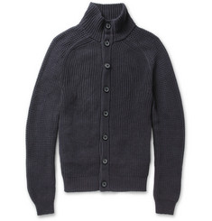 Lanvin Contrast-Sleeve Cotton Cardigan