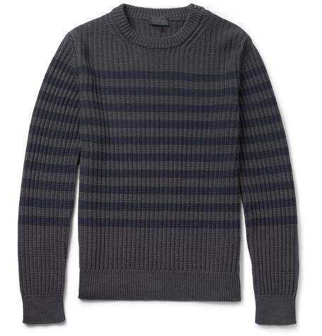 Lanvin Striped Ribbed Cotton Sweater