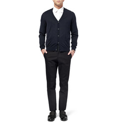 Lanvin Fine-Knit and Poplin Cotton Cardigan