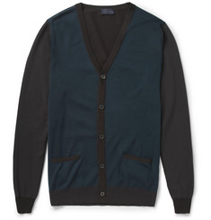 Lanvin Fine-Knit Cotton and Wool-Blend Cardigan