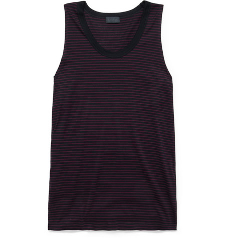 Lanvin Striped Cotton-Jersey Vest