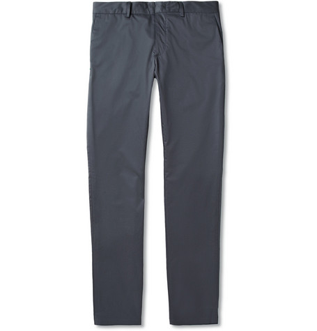 Lanvin Slim-Fit Cotton Trousers