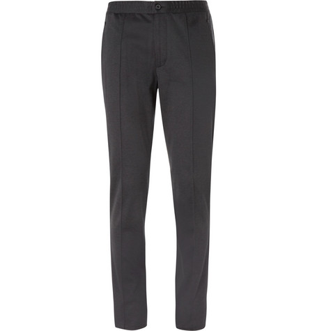 Lanvin Slim-Leg Drawstring-Waist Cotton-Jersey Trousers