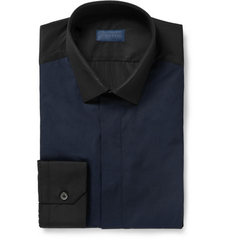 Lanvin Panelled Cotton Shirt