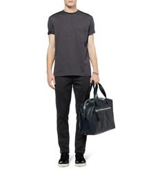 Lanvin Cotton-Poplin and Jersey T-Shirt