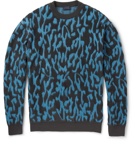 Lanvin Jacquard  Cotton and Wool-Jersey Sweatshirt